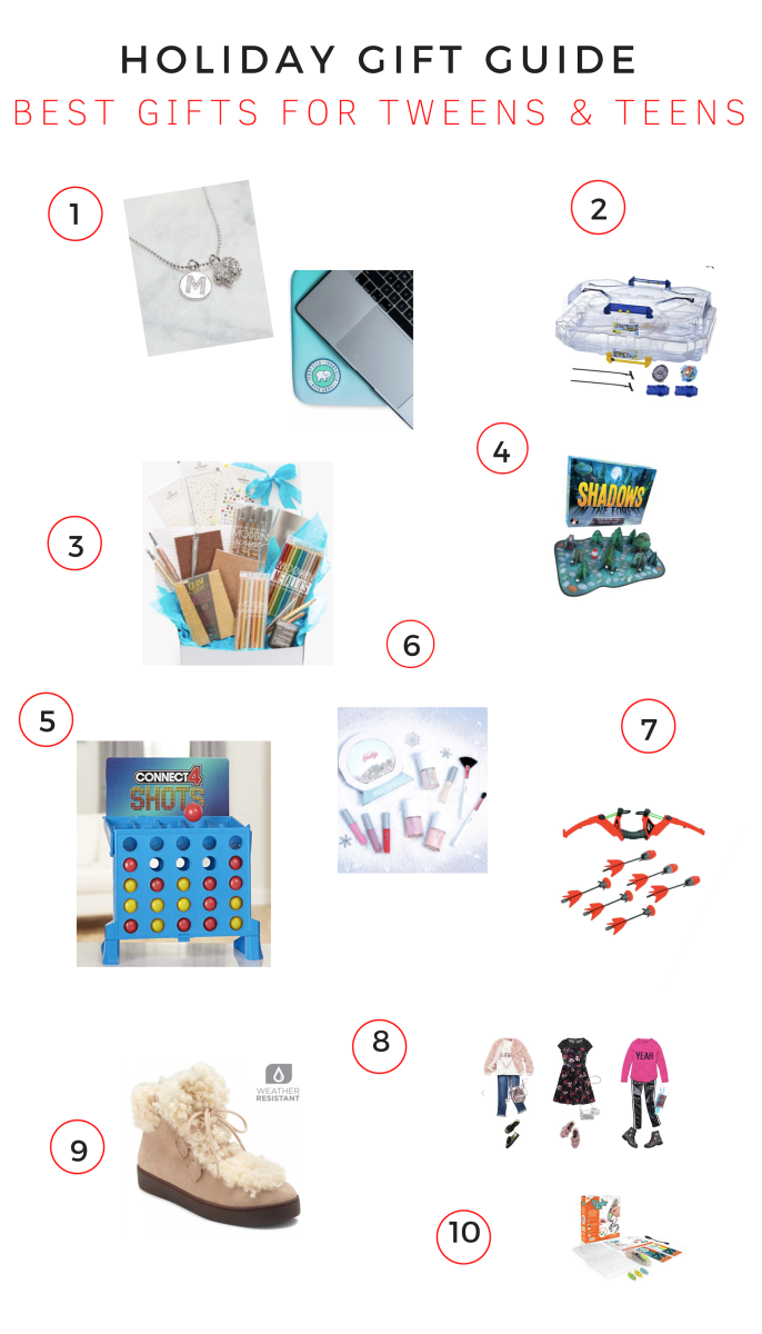 Gift Guide: Best Gifts for Tweens & Teens, gifts for tweens and teens, must haves for tweens and teens, tweens and teens gifts, holiday guide, what to get tweens and teens, on-trend gifts for tweens and teens, 2018 gifts for tweens and teens,Ivory Ella, Beyblade, OOLY-Shadows in the Forest, Connect 4 Shot, Petite and Pretty, Zing Air Storm Z-Tek Bow-Kidpik-Vionic-3Doodler Make Your Own Hexbug