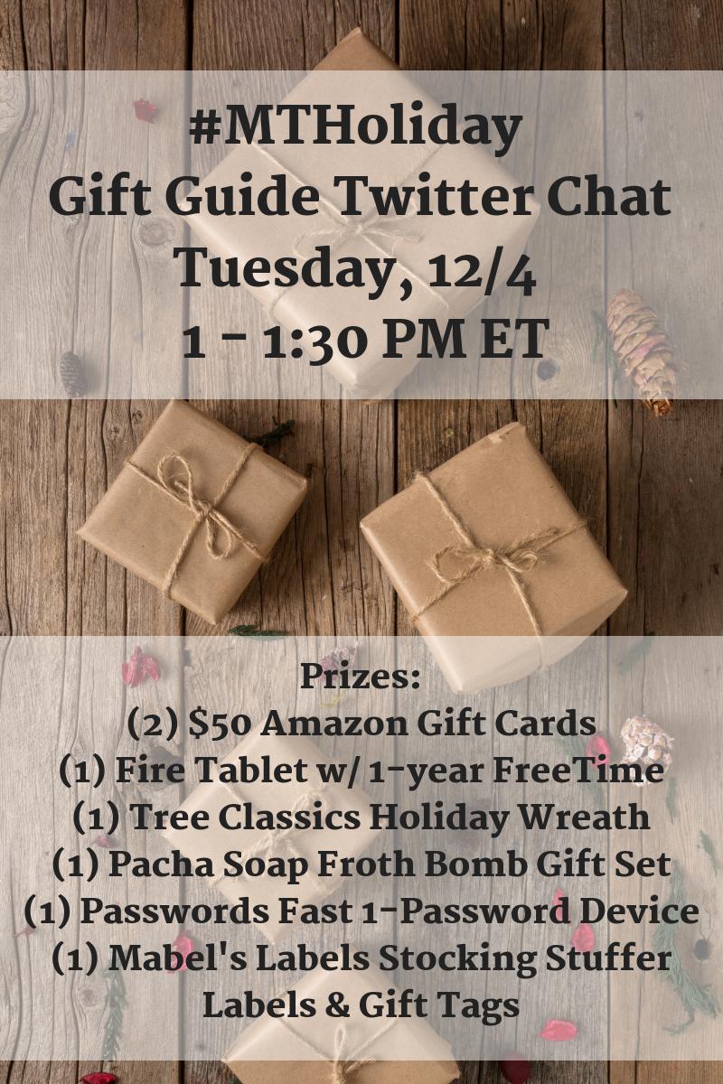 Momtrends' Gift Guide Twitter ChatMonday, 12%2F3 at 1 PM ET (2) (1)