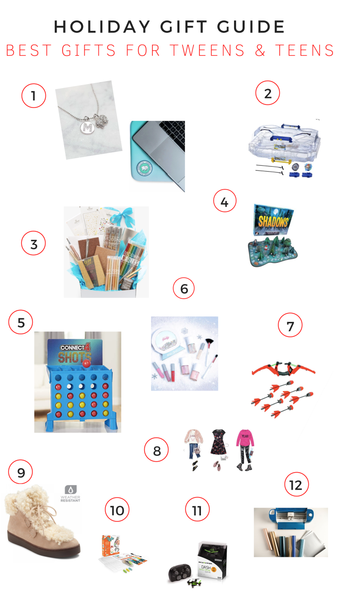 Gift Guide: Best Gifts for Tweens & Teens, gifts for tweens and teens, must haves for tweens and teens, tweens and teens gifts, holiday guide, what to get tweens and teens, on-trend gifts for tweens and teens, 2018 gifts for tweens and teens,Ivory Ella, Beyblade, OOLY-Shadows in the Forest, Connect 4 Shot, Petite and Pretty, Zing Air Storm Z-Tek Bow-Kidpik-Vionic-3Doodler Make Your Own Hexbug, cricut explore air 2