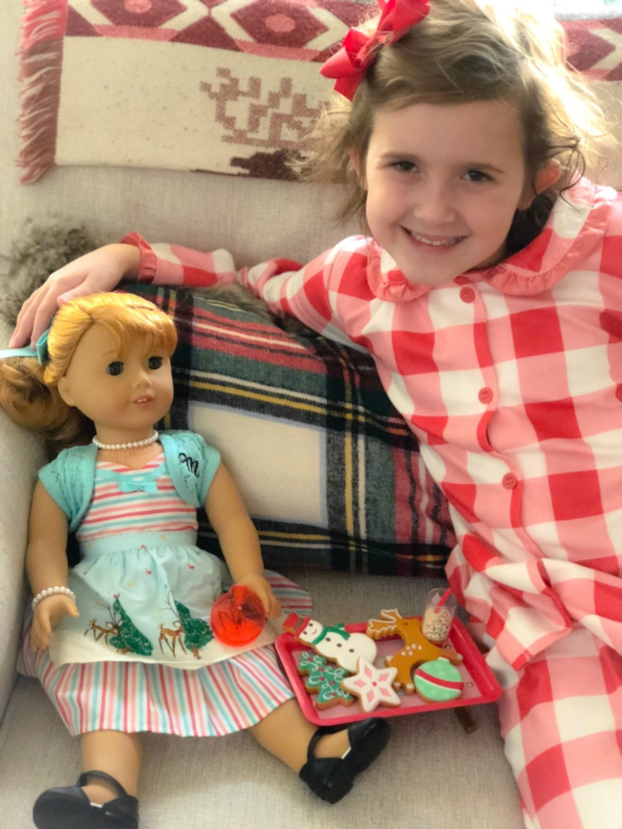 holiday american girl doll