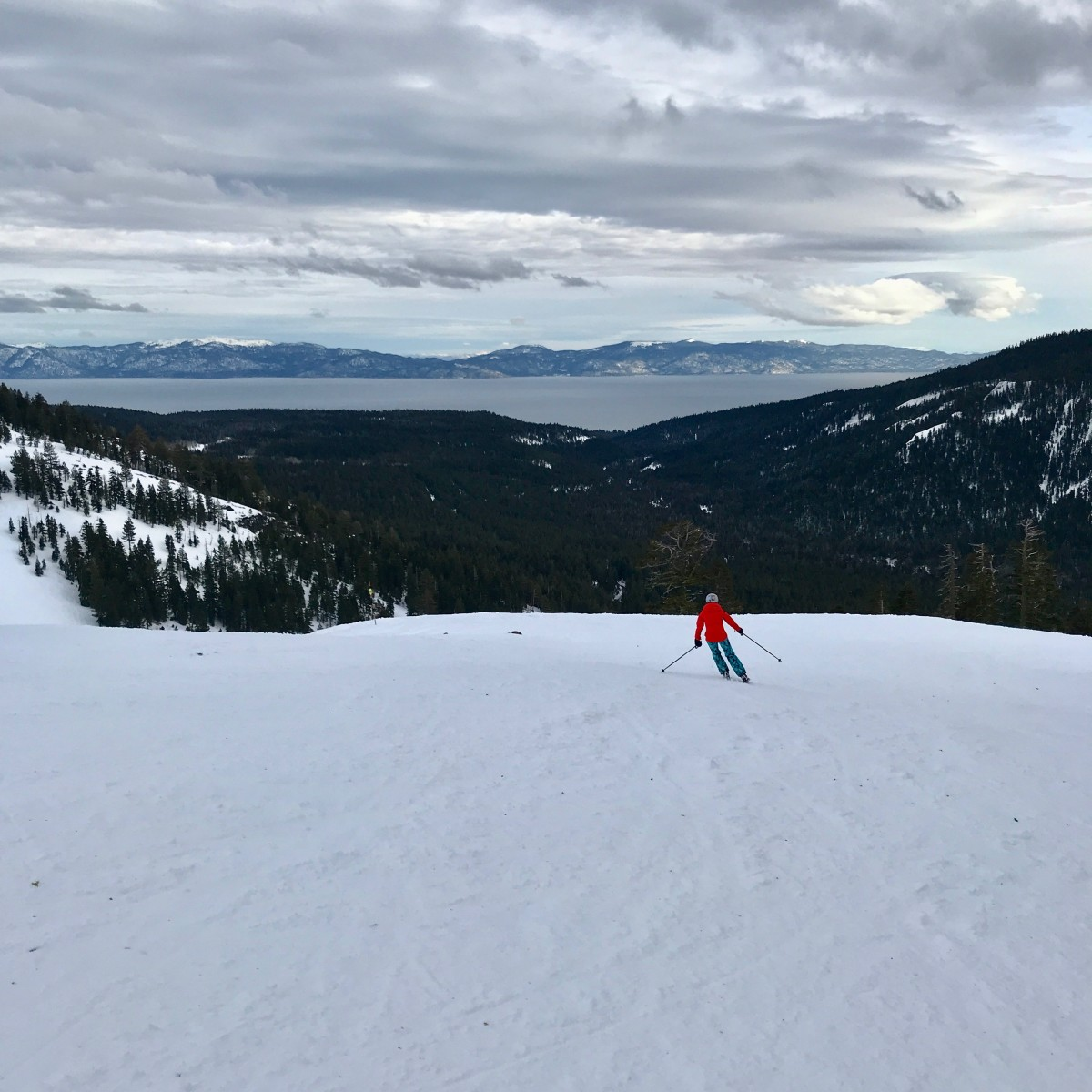 Skiing and riding at Squaw Alpine