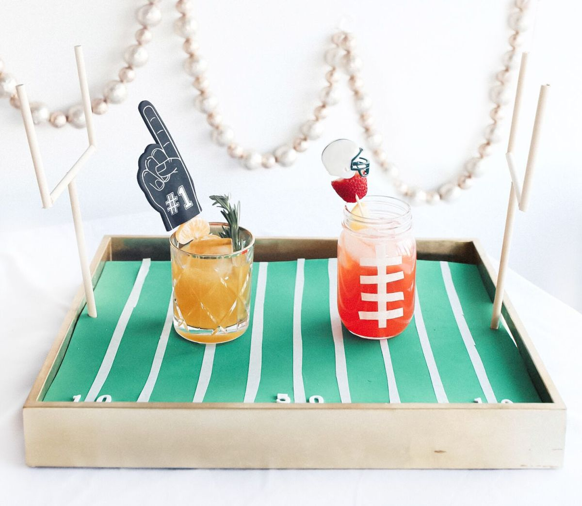Super bowl cocktail mocktail showdown