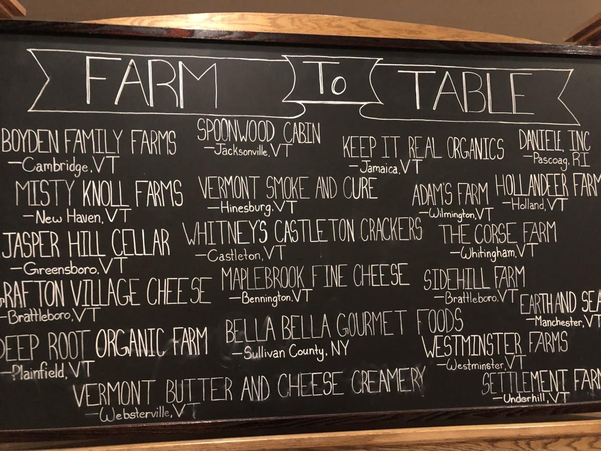 Vermont Farm to Table
