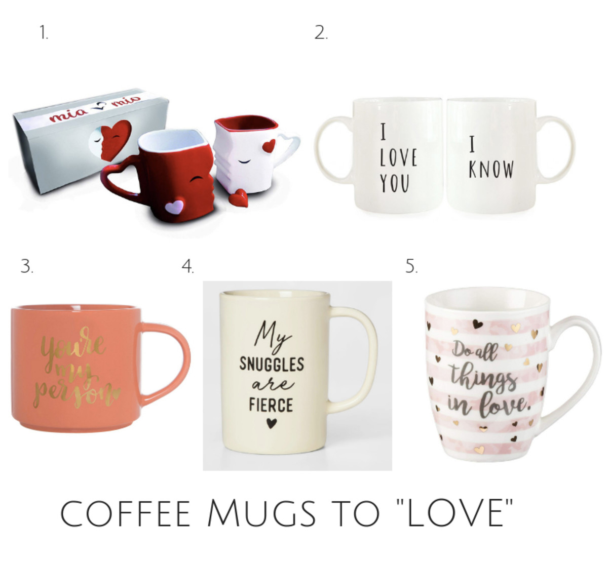 coffee cups to love