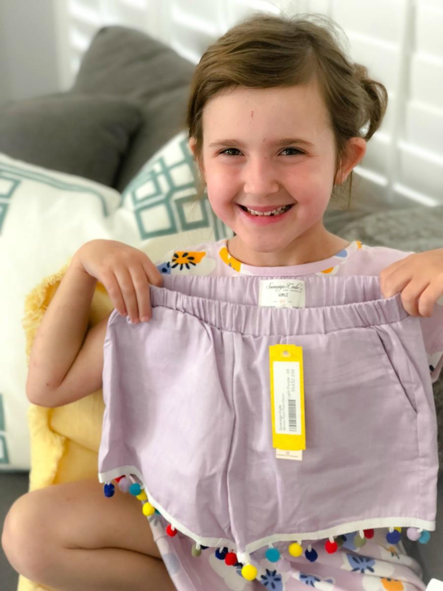 pom pom shorts for girls