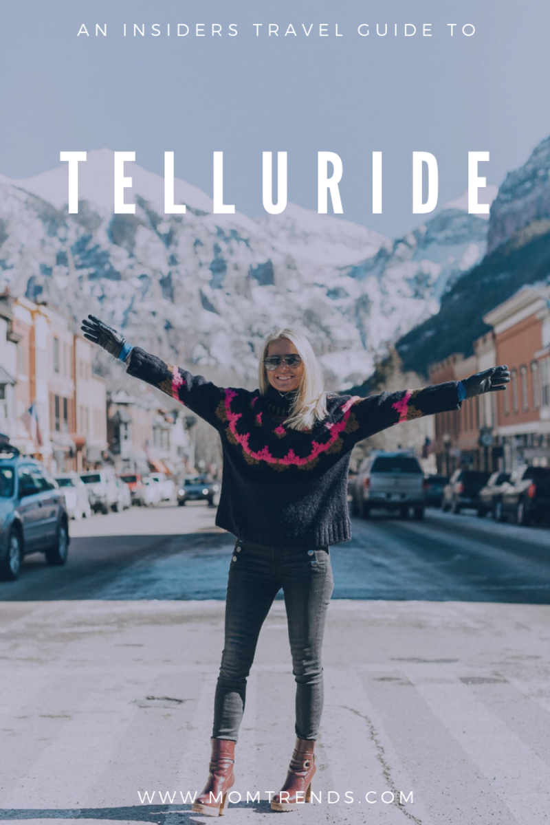 woman standing on the street in telluride