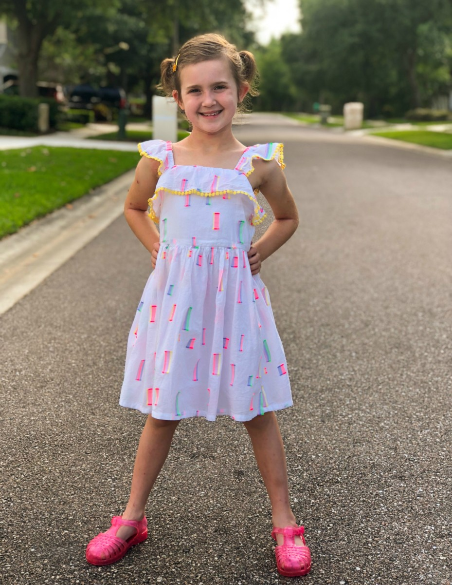 target girls spring dresses on little girl
