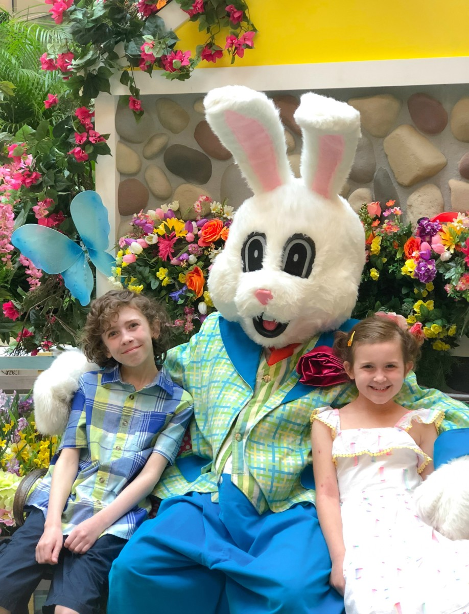 easter bunny photo outfits on siblings