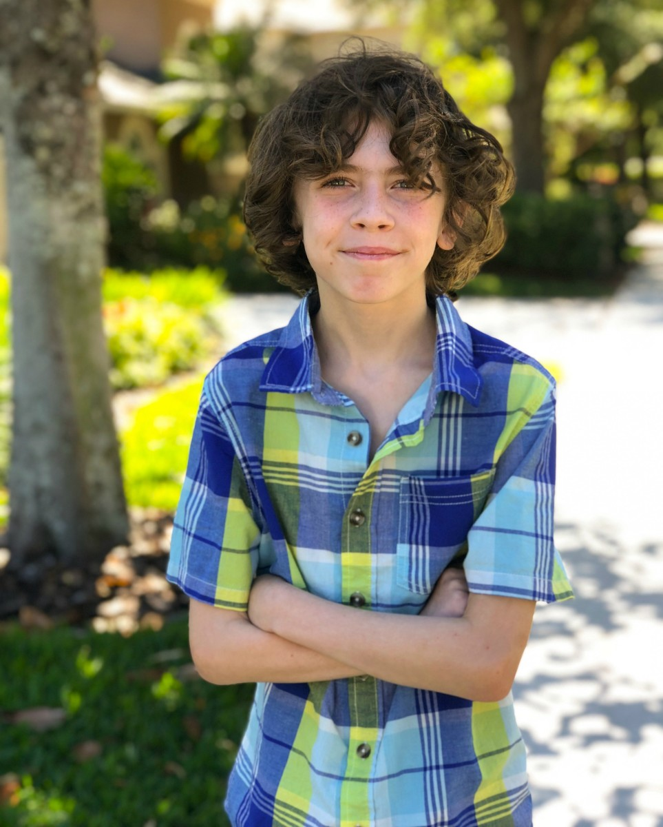 spring plaid shirt on young boy