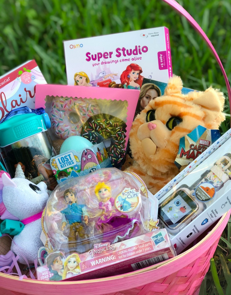girl ieaster basket fillers