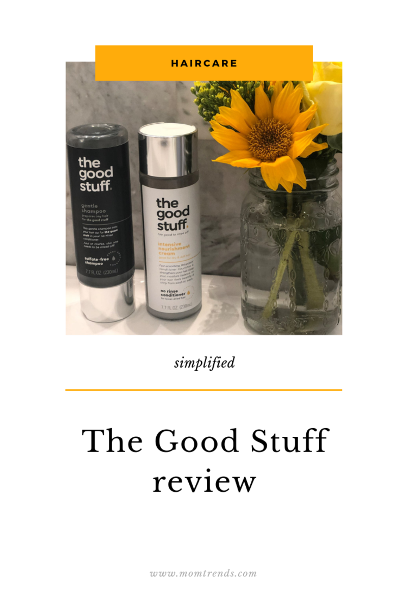 the good stuff haircare products on counter