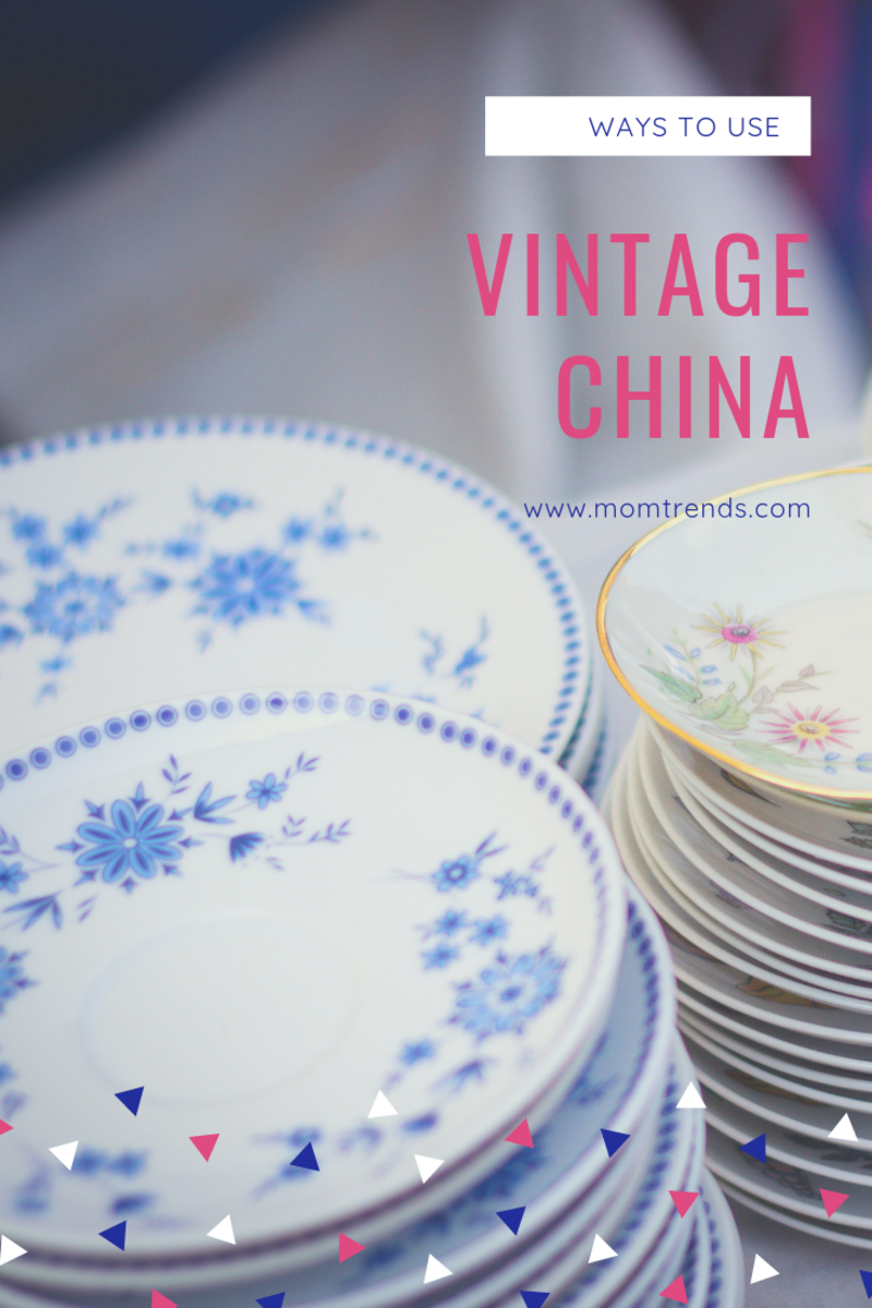 ways to use vintage china