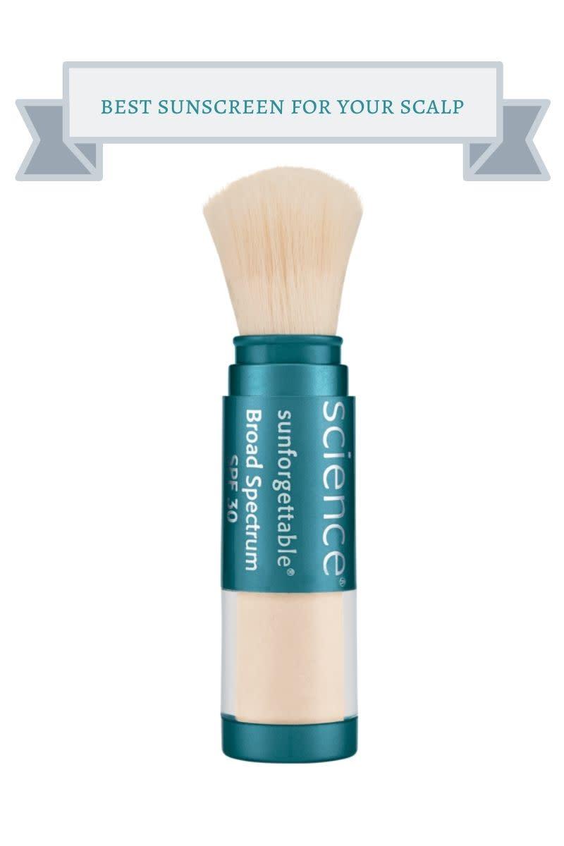 teal brush bottle of colorscience sunforgettable broad spectrum spf 30