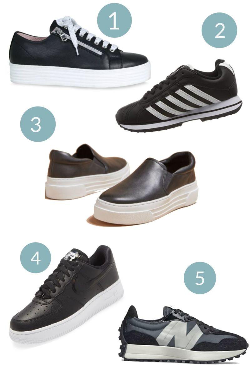 Fall Sneaker Trends Five Black Sneakers to Love