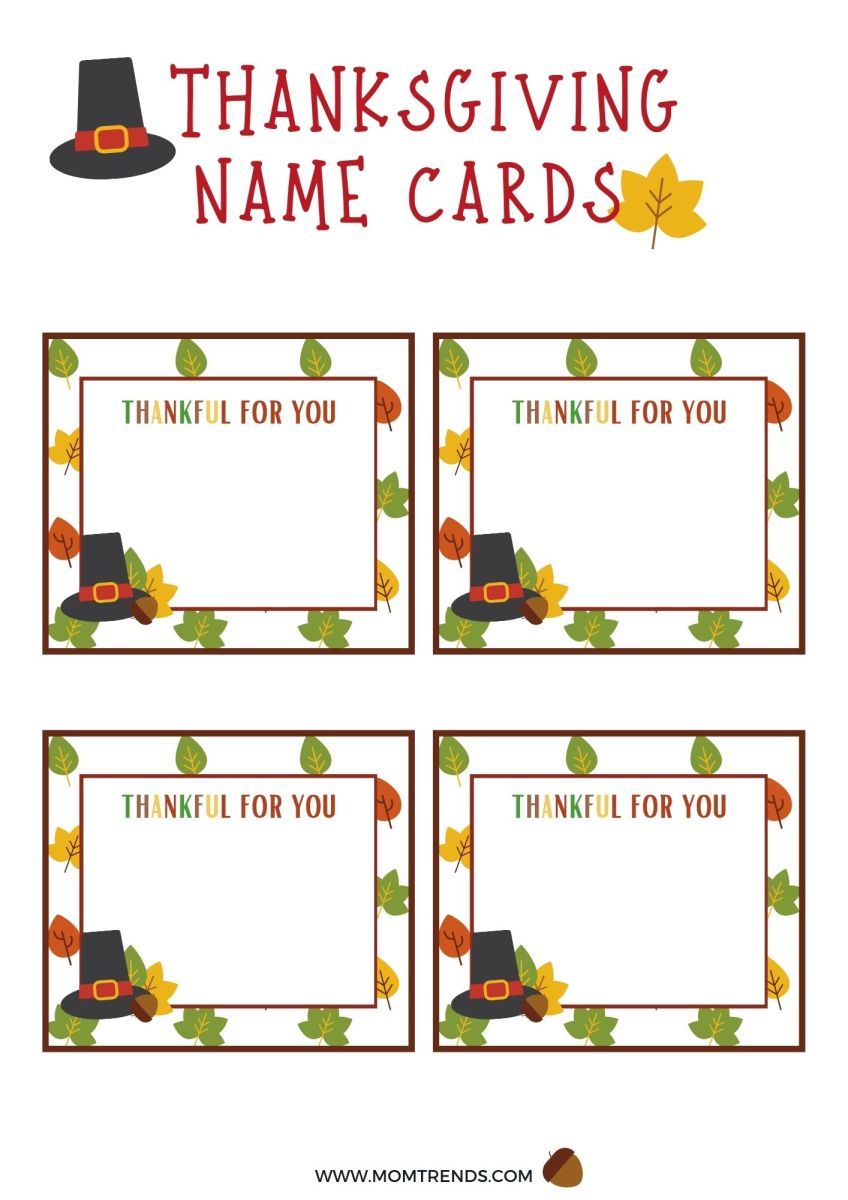 Thanksgiving Gratitude Free Printables
