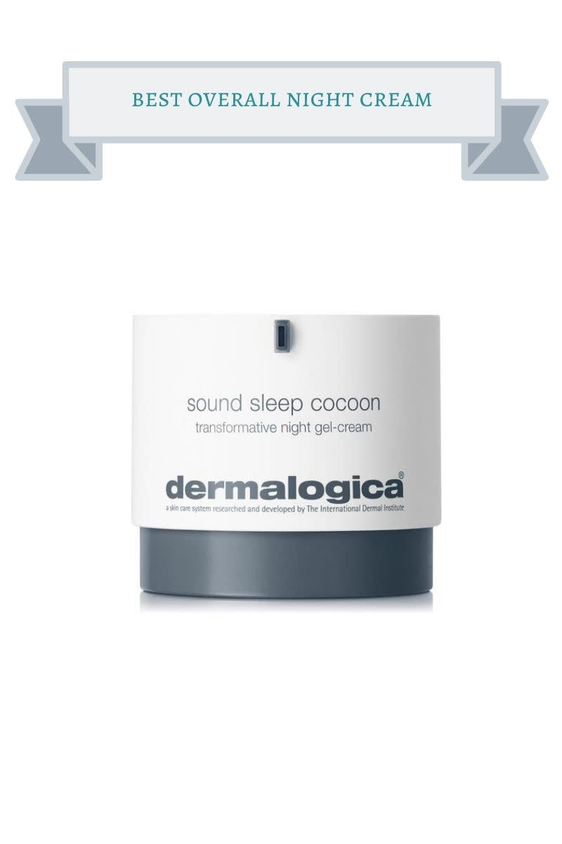 white and grey jar of dermalogica sound sleep cocoon transformative night-gel cream