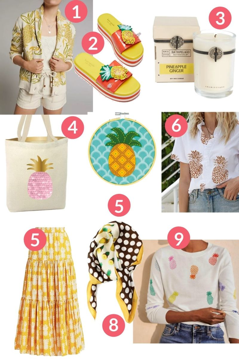 Trendy and Tropical Summer Styles: Pineapple Prints