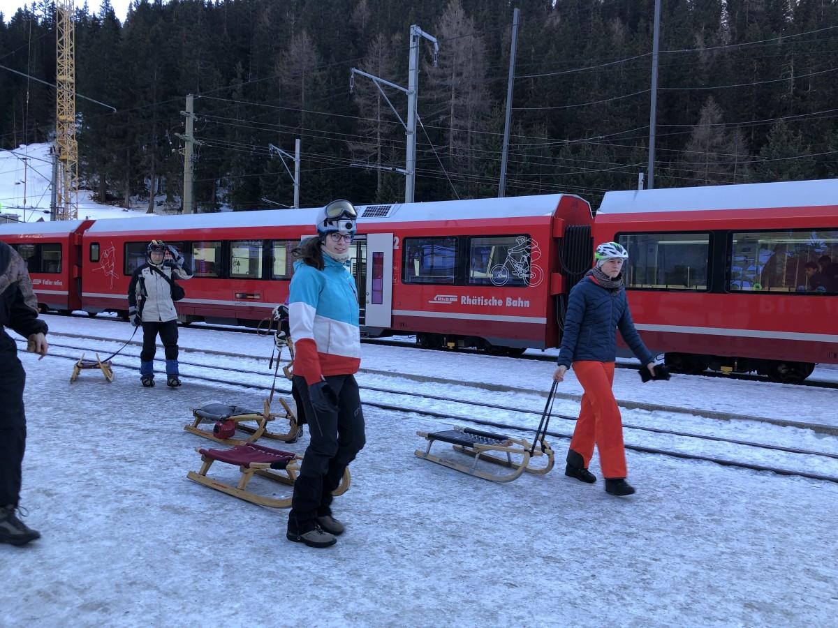 Grown-Up Sledding Fun in Switzerland
