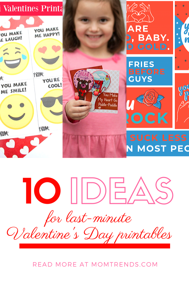 10 ideas for last-minute Valentine's Day printables