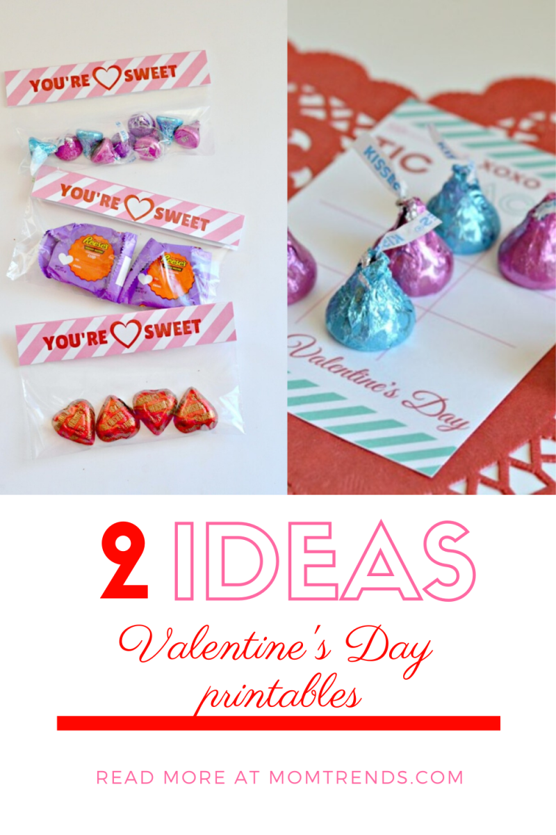 Easy Valentine Printables for Your Child's School