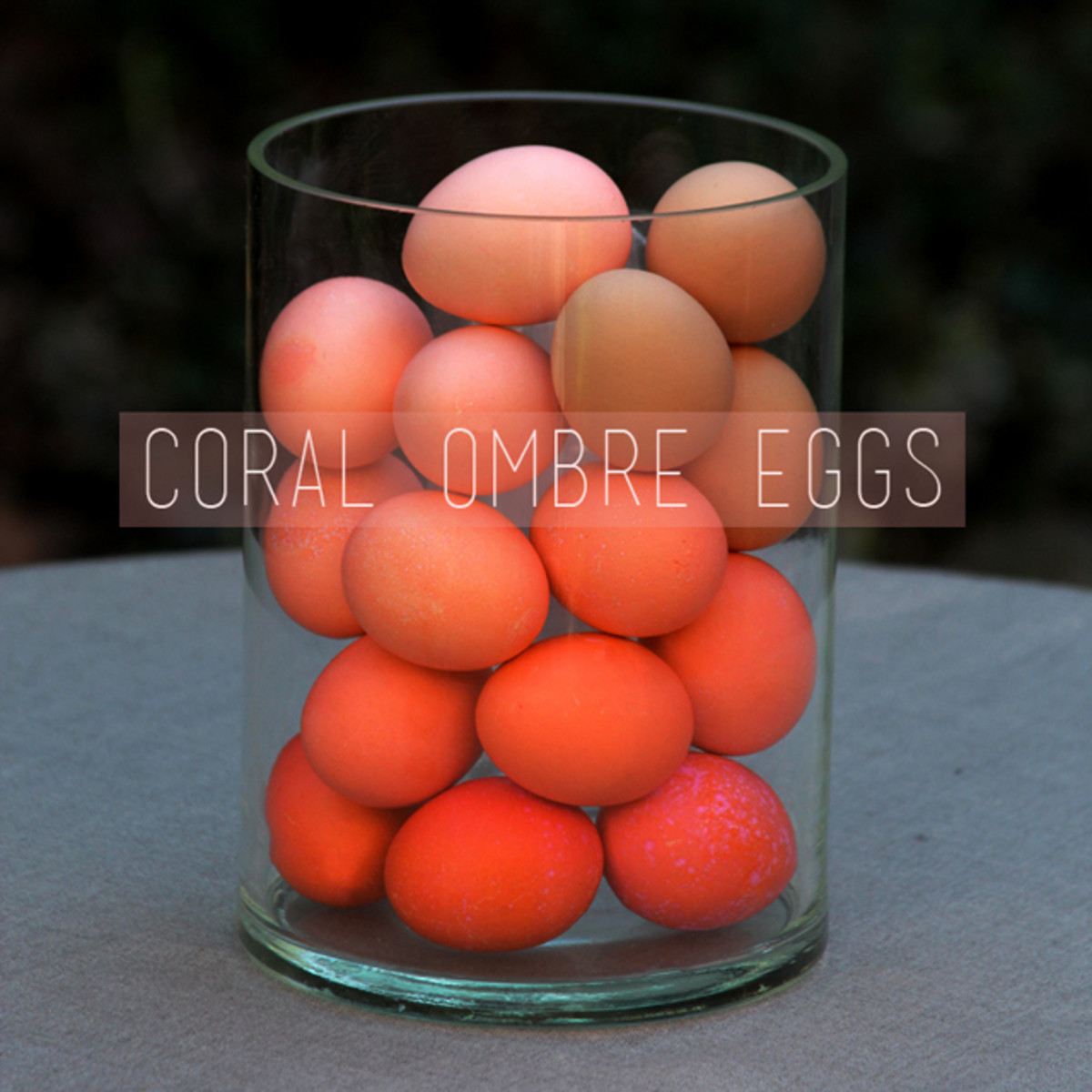 DIY Make and Ombre Easter Egg Centerpiece