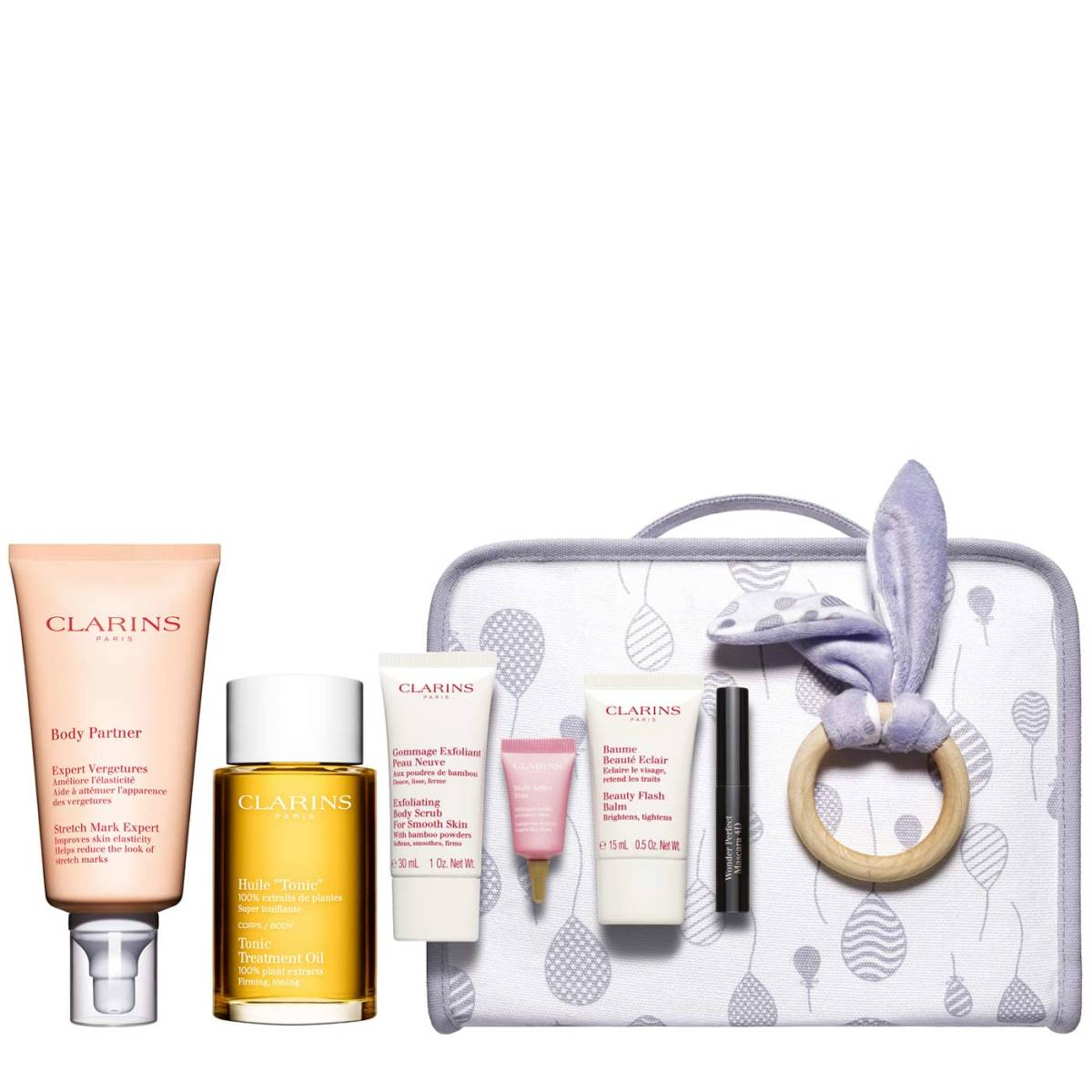 "Clarins launches an exciting new ""Maternity Kit"" that is filled with beauty essentials to protect and treat skin during pregnancy and beyond."