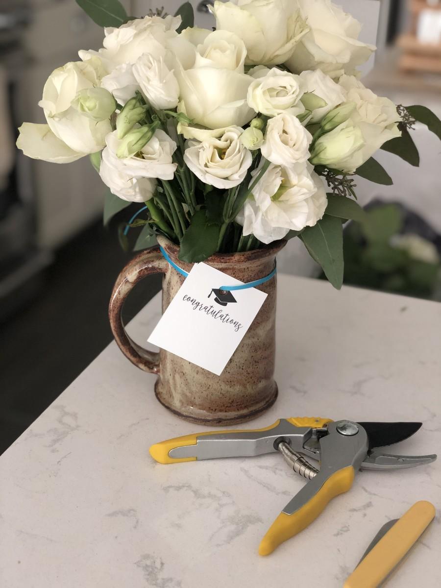 DIY Flower Arrangement for Graduation