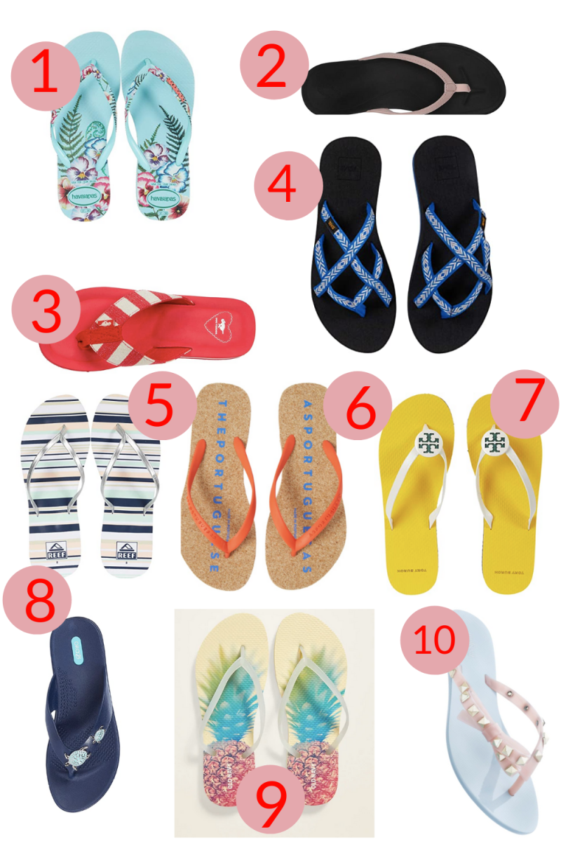 The Ten Best Flip Flops for Summer