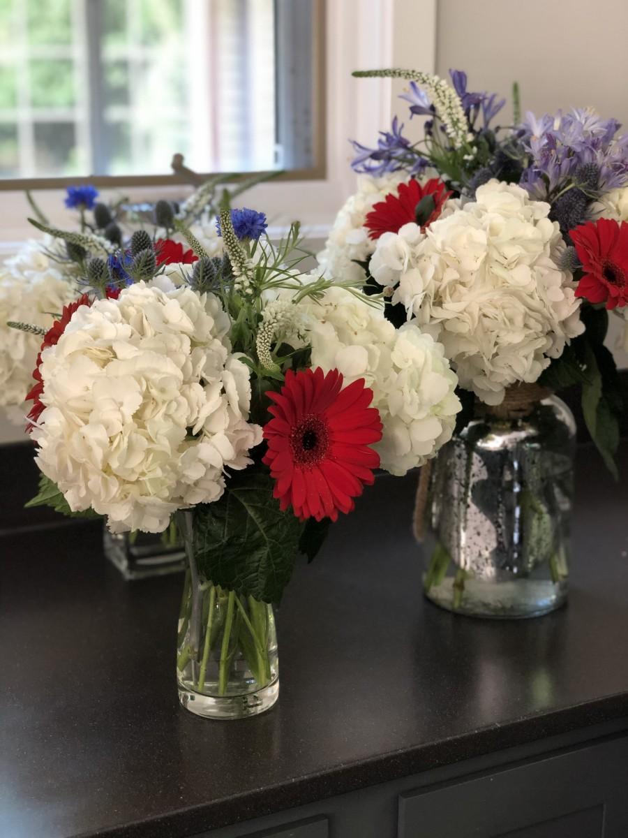 DIY 4th of July Flower Bouquet