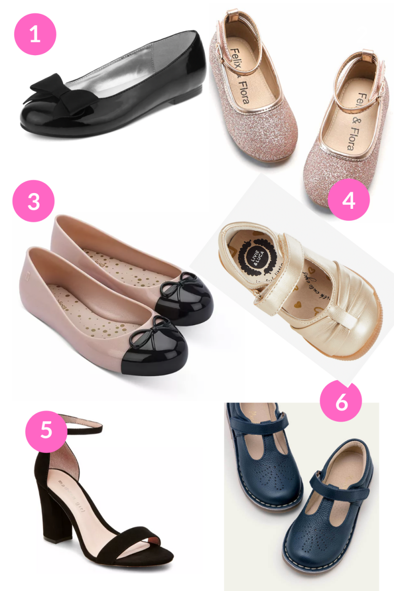 Girls' Sparkly Dress Shoes for the Holidays