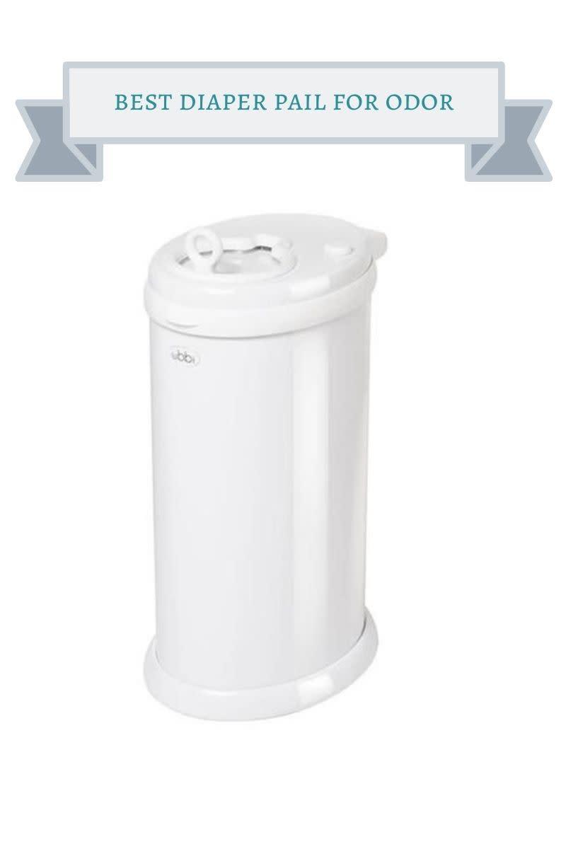 white metal diaper pail
