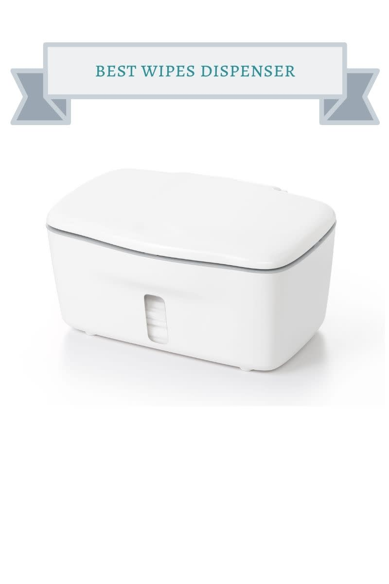 white plastic wipes dispenser