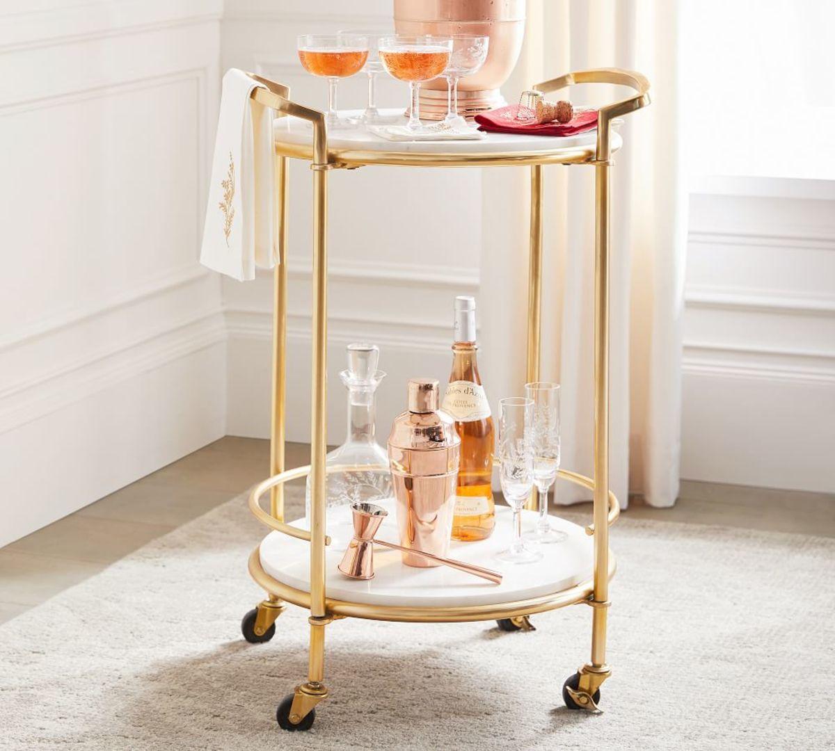 Marble Bar Cart
