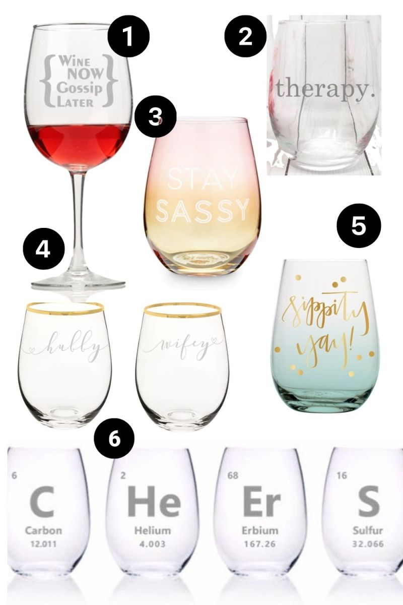 Graphic Wine Glasses