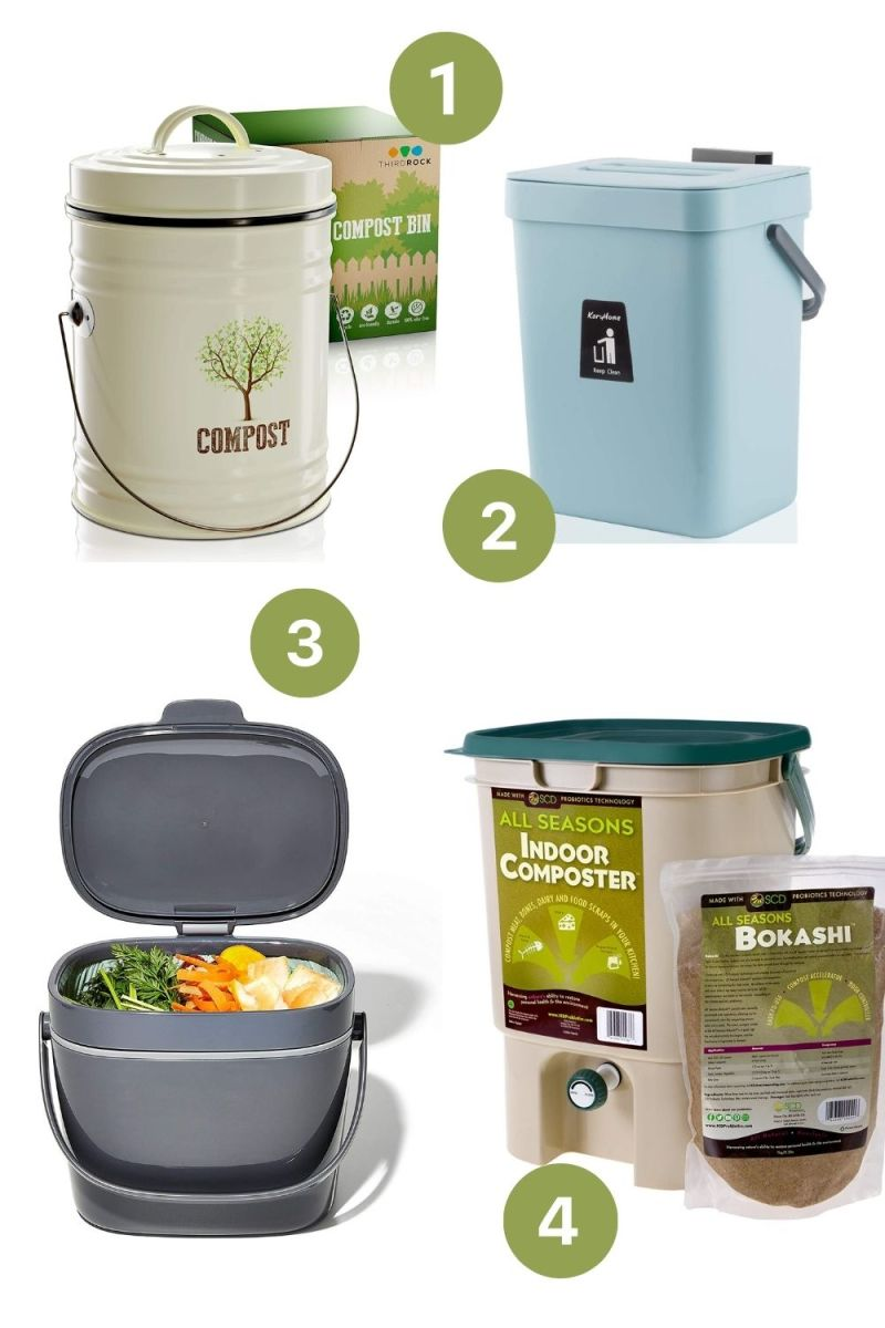 Four Compost Buckets for Your Kitchen