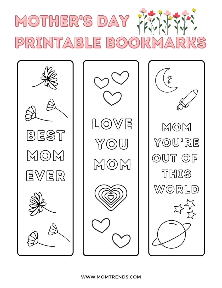 Sweet Mother's Day Bookmark Printable