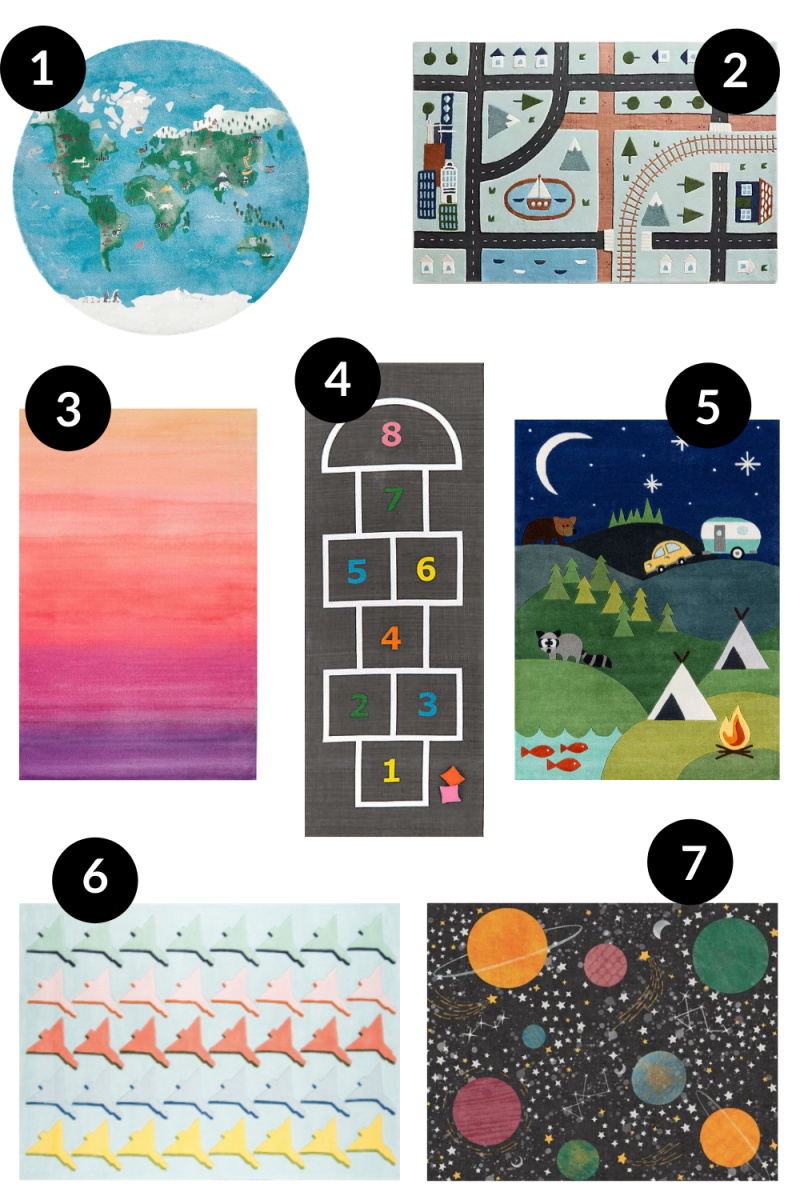 Cool Rugs for a Playroom