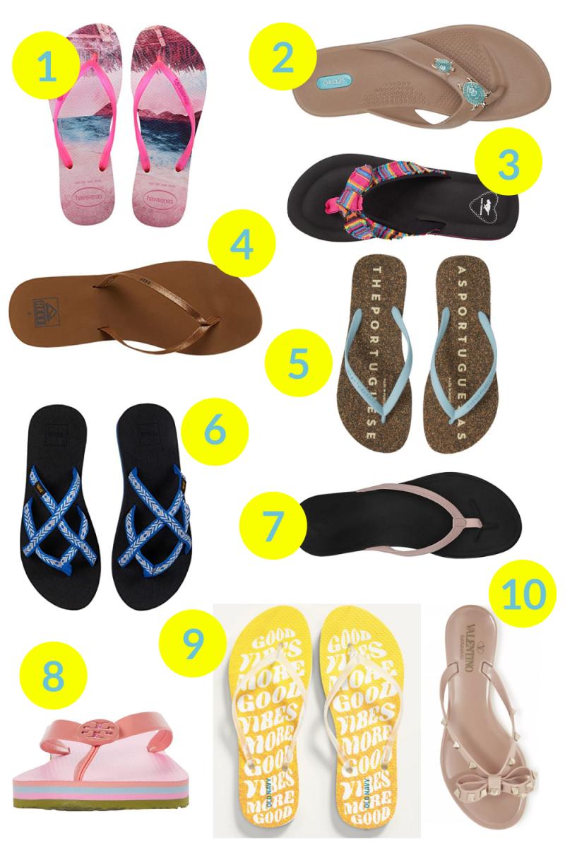 The Ten Best Flip Flops for Summer