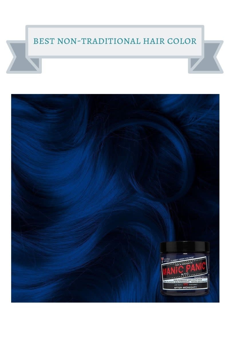 black and red jar of manic panic hair color for blue hair