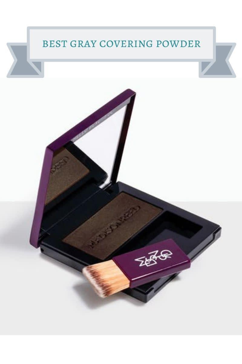 purple gray covering powder compact