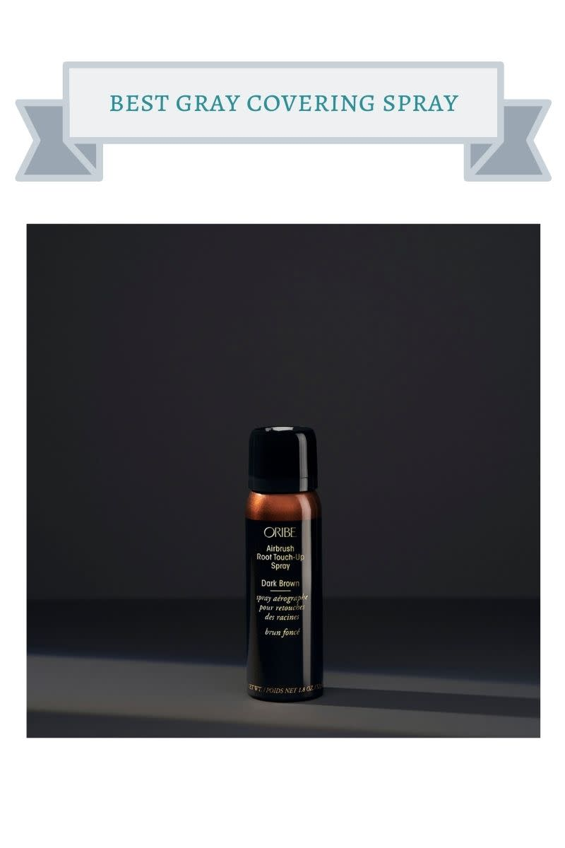 brown can of oribe root touch-up