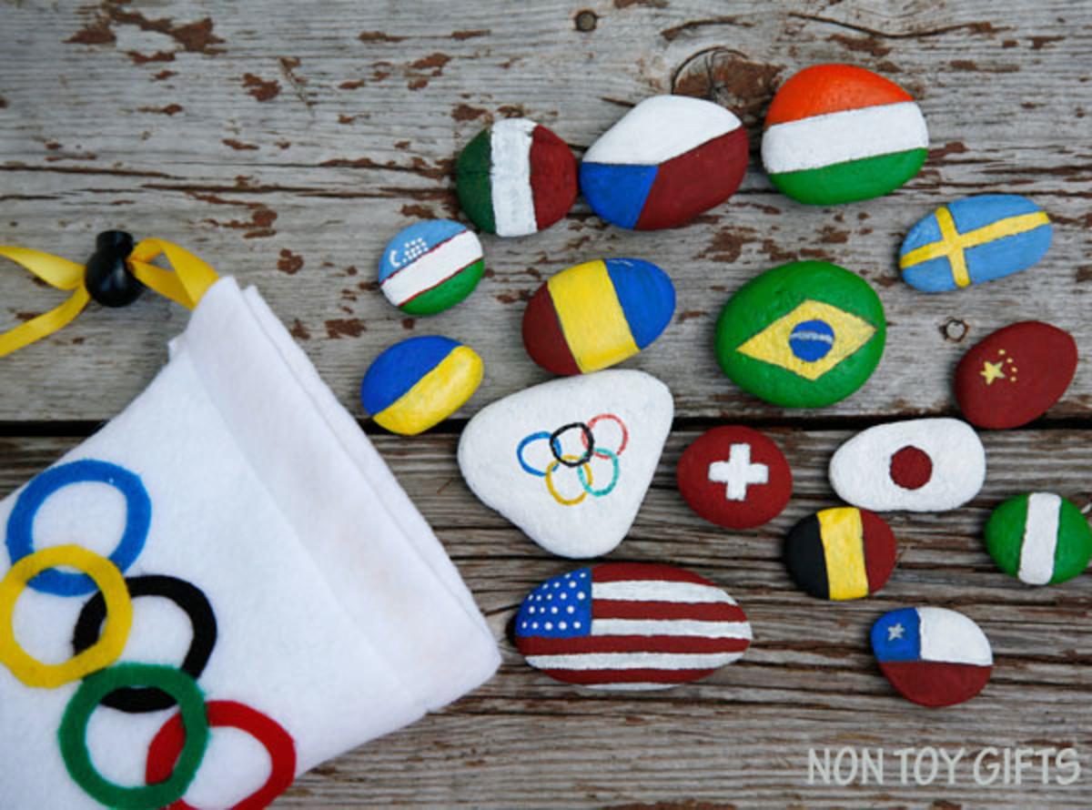 Flag Rocks for Olympics