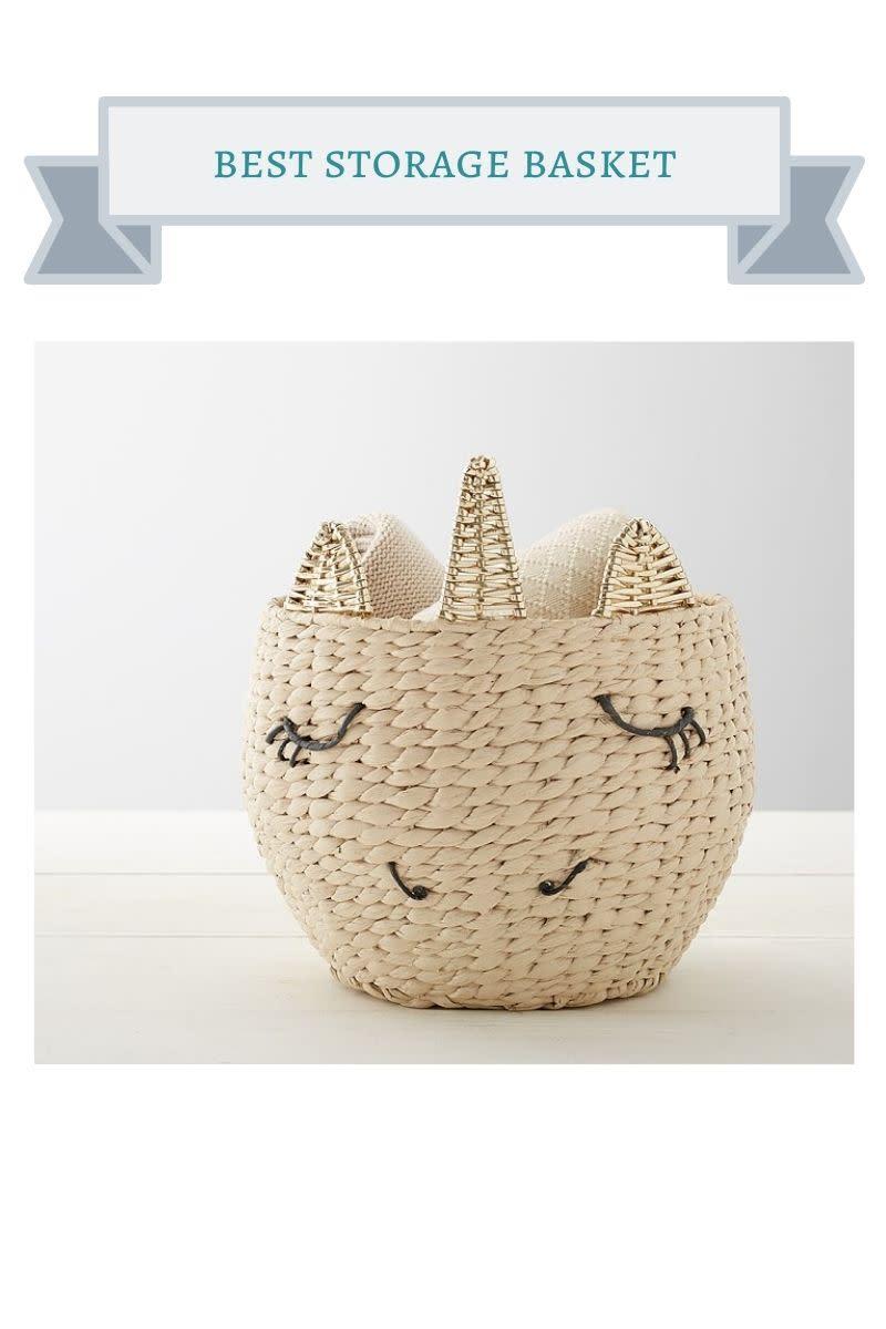 unicorn storage basket