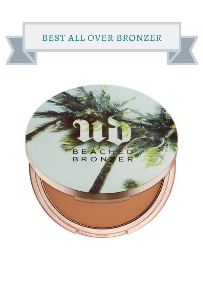 Urban Decay bronzer compact with palm trees on it.