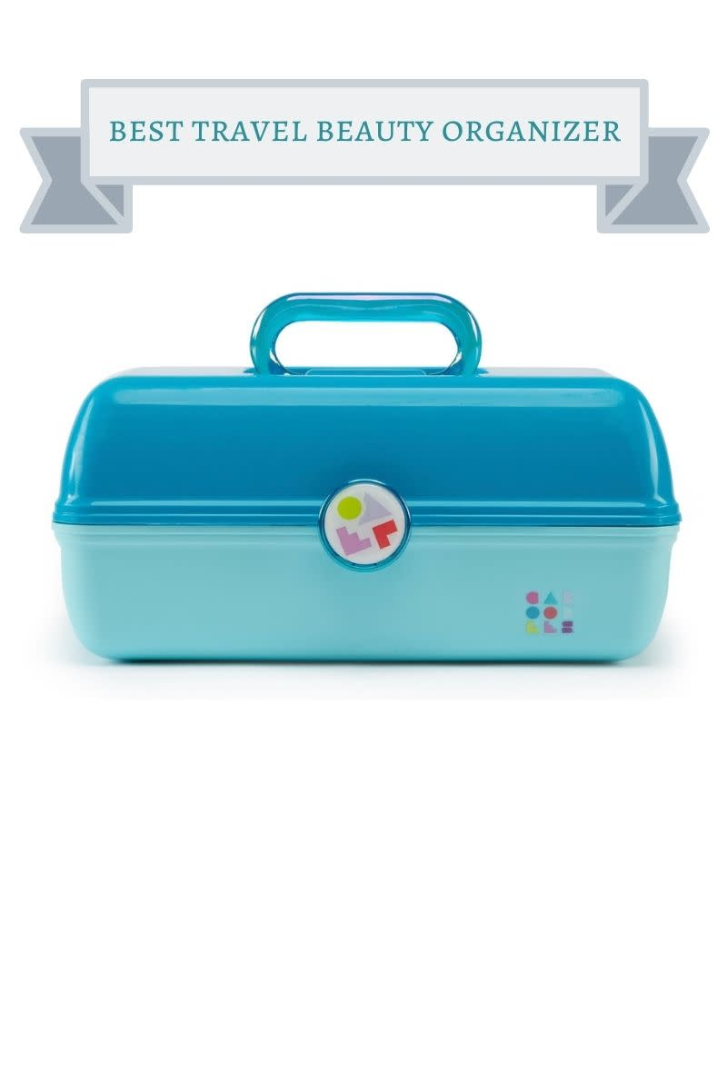turquoise caboodles travel beauty case