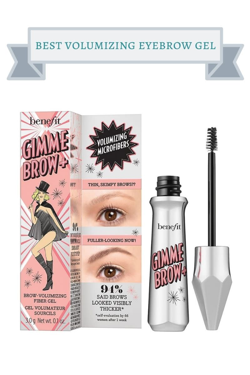 silver bottle of Benefit Gimme Brow+