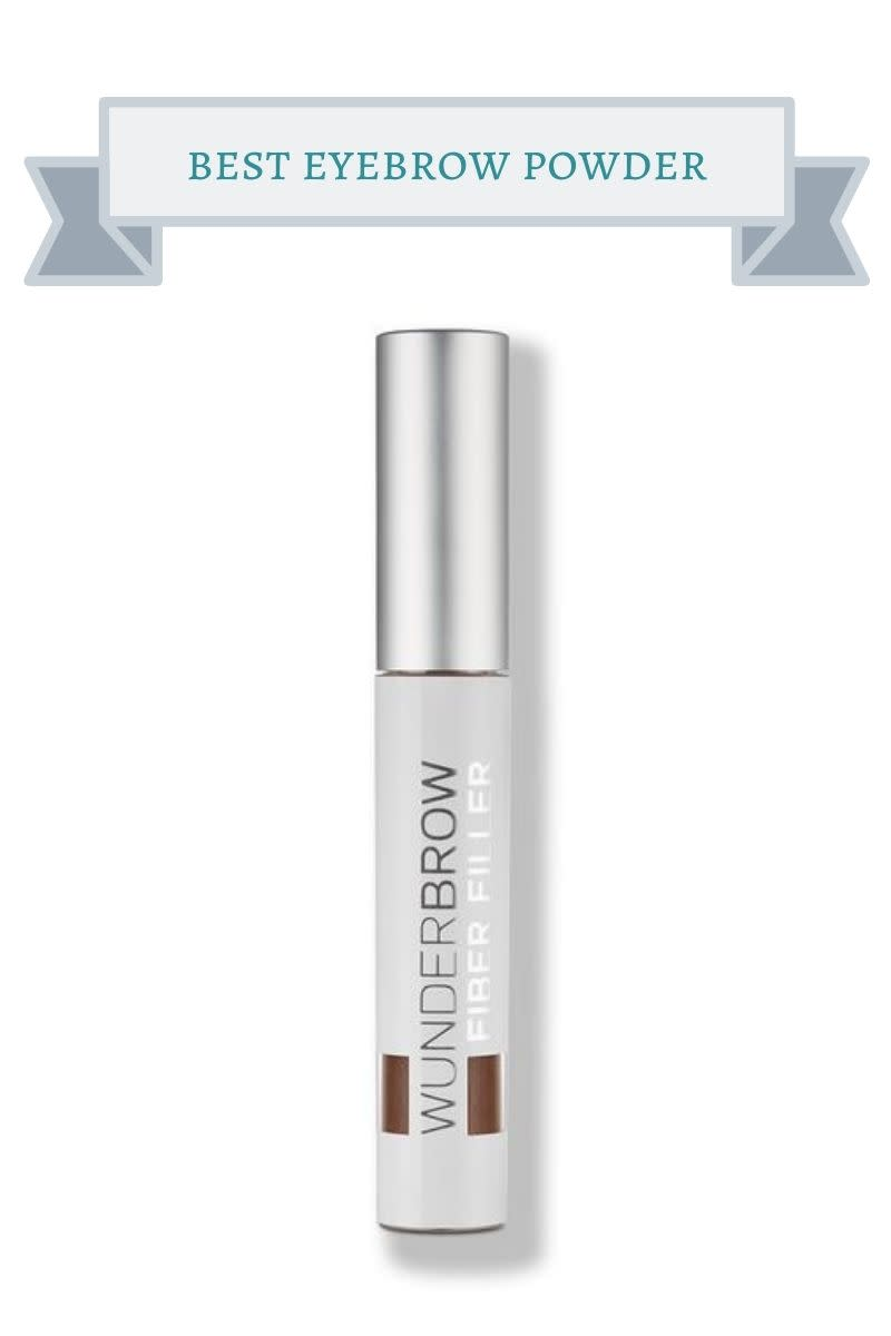 silver bottle of wunderbrow brow powder