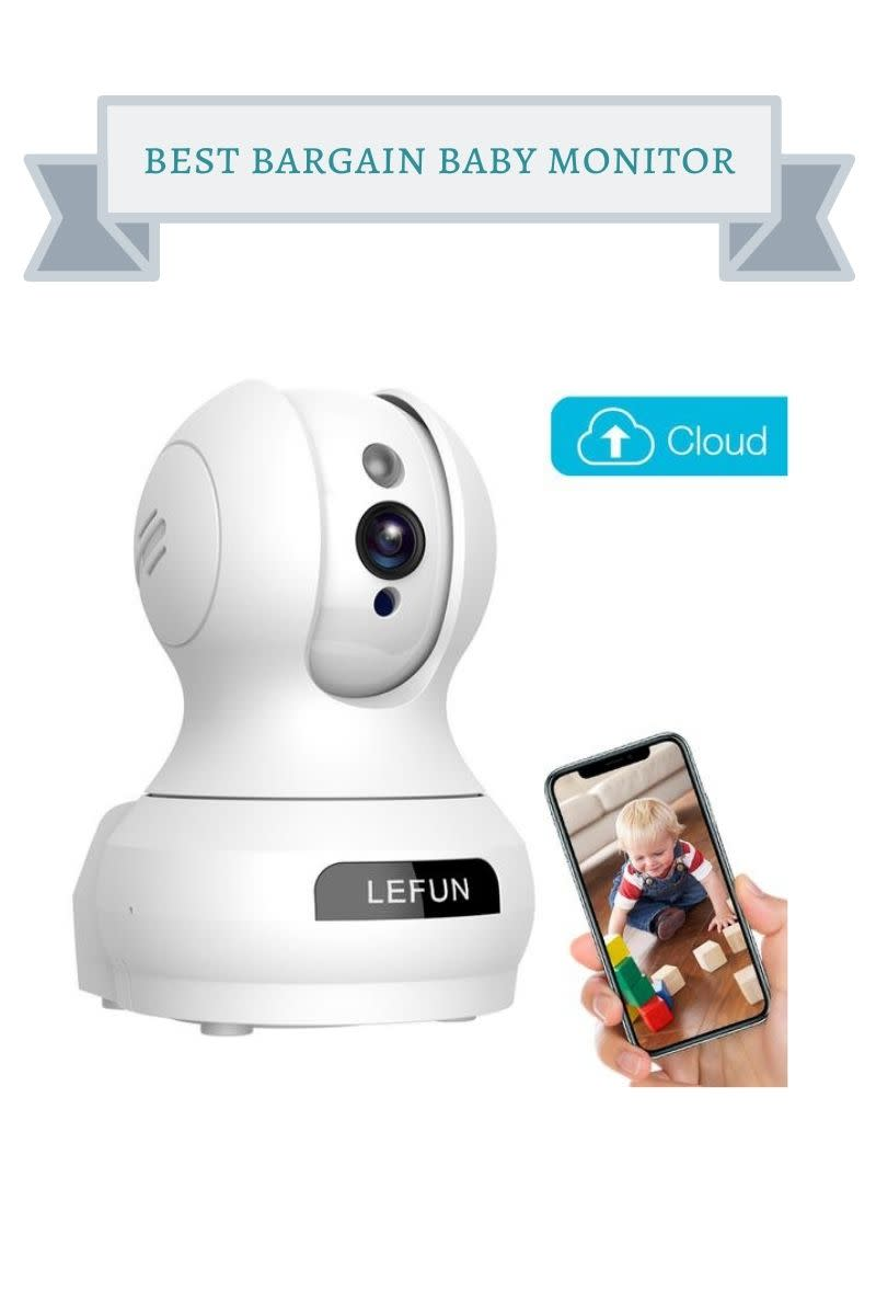 white lefun baby monitor and camera in one