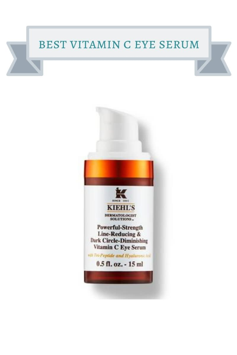 orange bottle of kiehl's vitamin c eye serum