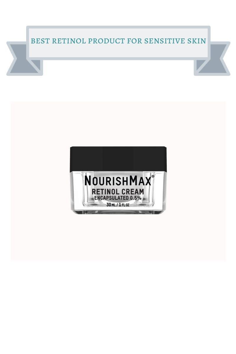 black and clear jar of nourishmax retinol cream